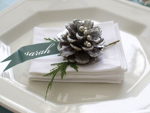 Pinecone Place Card Holder