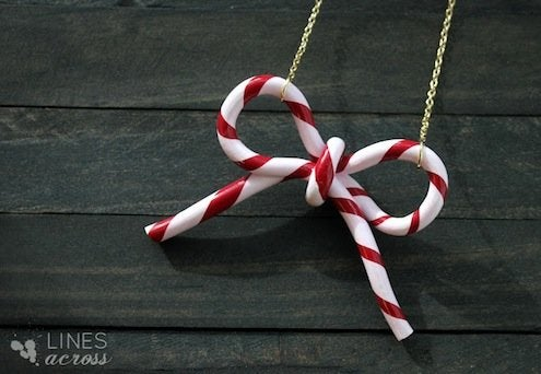 DIY Candy Cane Ornaments