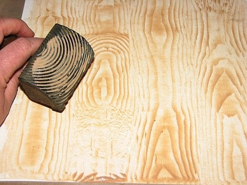 How to Paint Faux Wood Grain