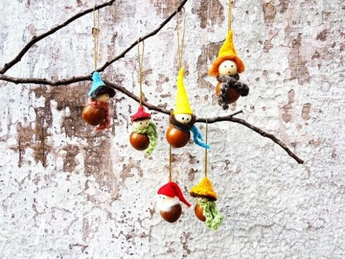 DIY Macadamia Nut Ornaments