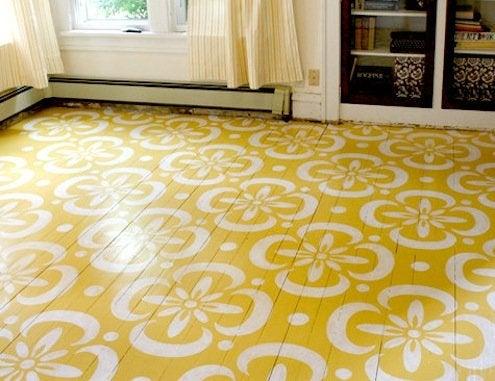 Stenciled Floor