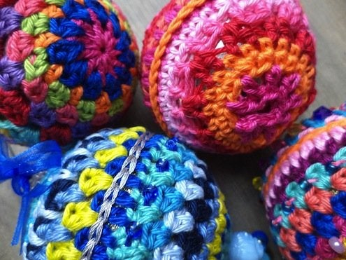 DIY Knit Ornaments