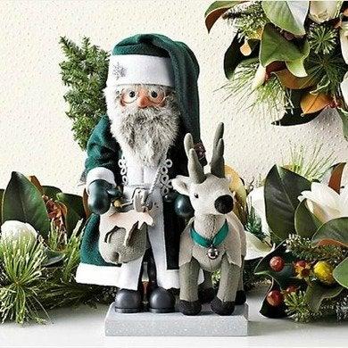"Christian Ulbricht's ""Woodland Santa"" Nutcracker at Gumps."