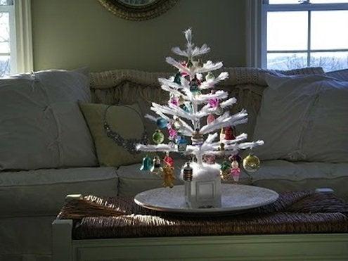 Feather Christmas Trees at MaisonDecor