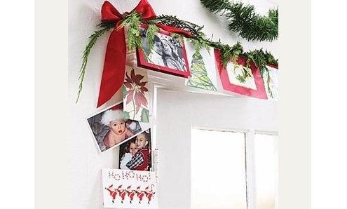 Christmas Card Display - Doorway Border