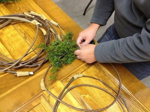 How to Make a Wreath - Starting the Process