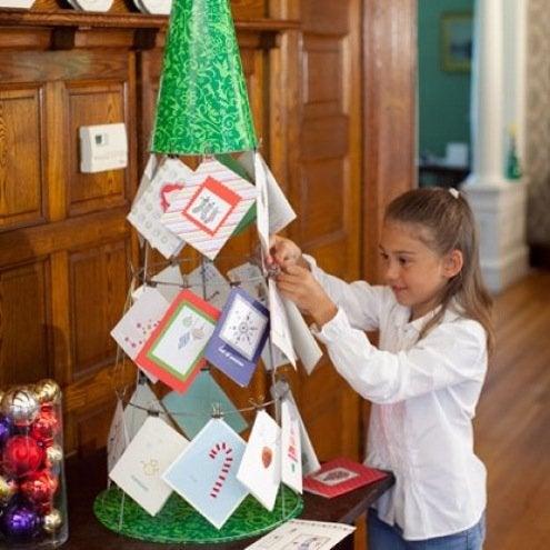 Christmas Card Display - Tomato Cage