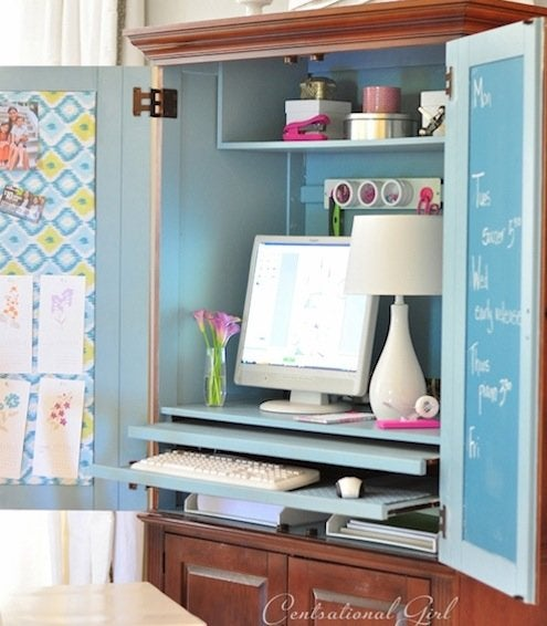 Chalkboard Paint DIY - Armoire Office