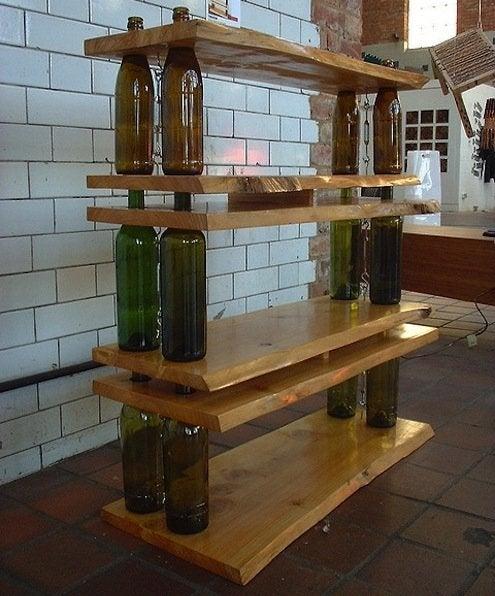 DIY Shelves - Wine Bottles