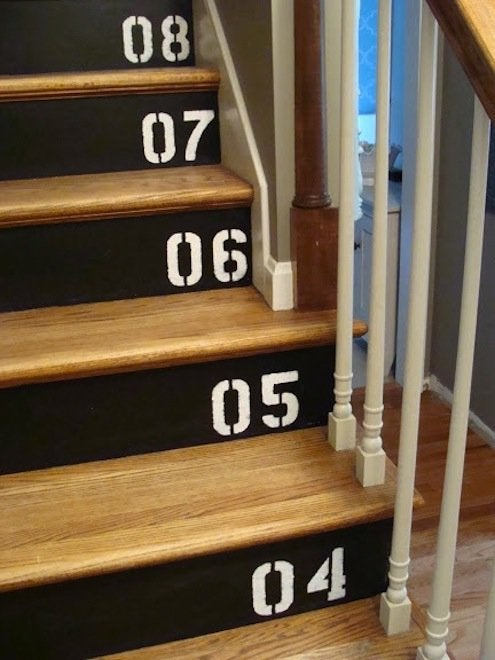 Chalkboard Paint DIY - Staircase