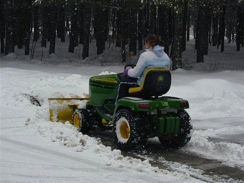 Lawn Tractor Snow Plow
