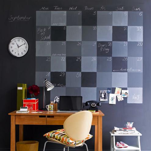 Chalkboard Paint DIY - Calendar Wall
