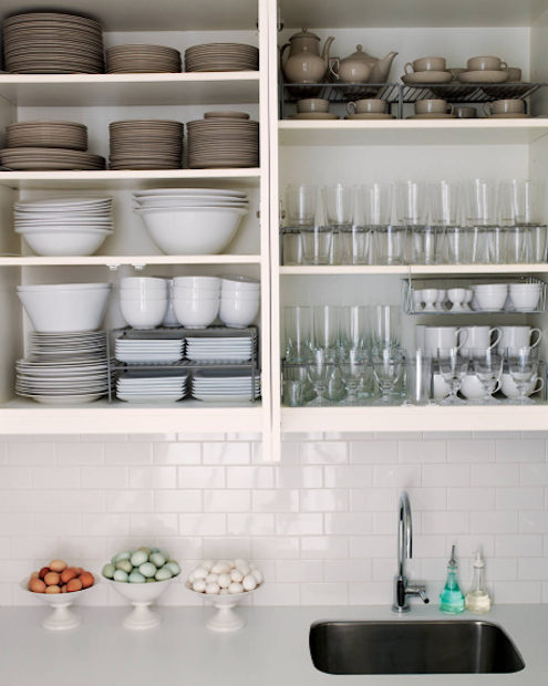 How to Organize Kitchen Cabinets - Think Vertical