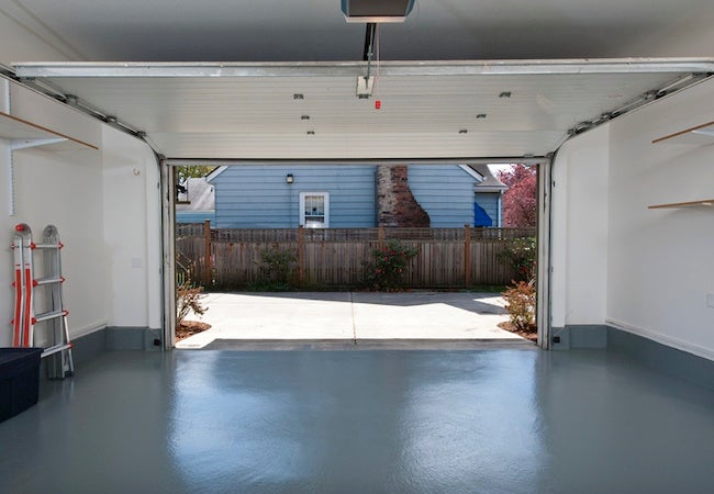 How to Clean Concrete - Painted Garage Floor