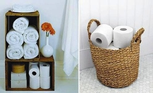 DIY Bathroom Storage - Toilet Paper