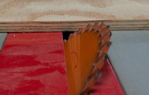 How to Make a Mitered Corner - Table Saw Tilt