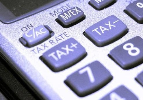 tax button on calculator