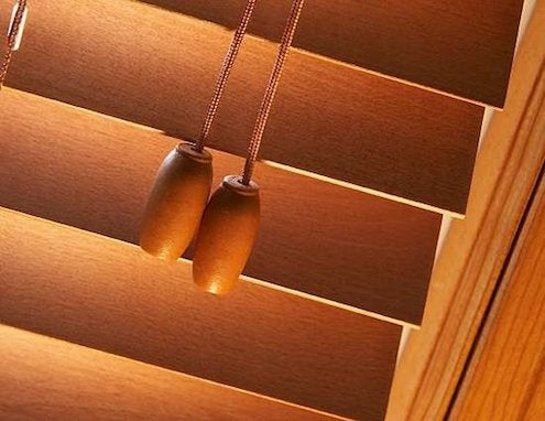 How to Clean Blinds - Wood Detail