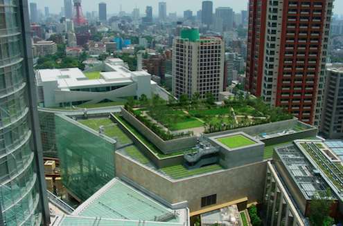 Green roof of Four Seasons Hotel, Boston