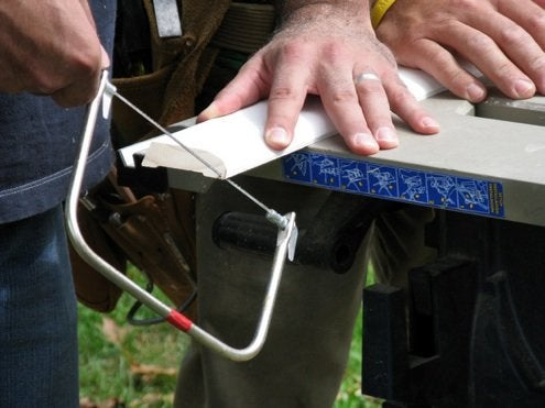 How to Install Baseboard - Coping Saw