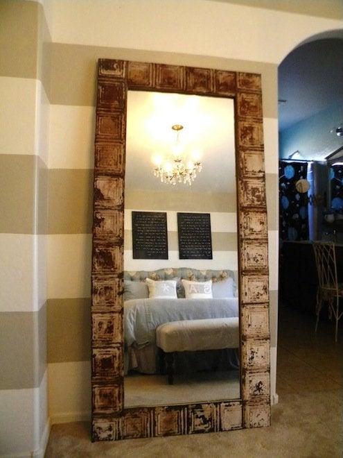 Tin Ceiling Tile DIY - Mirror Frame