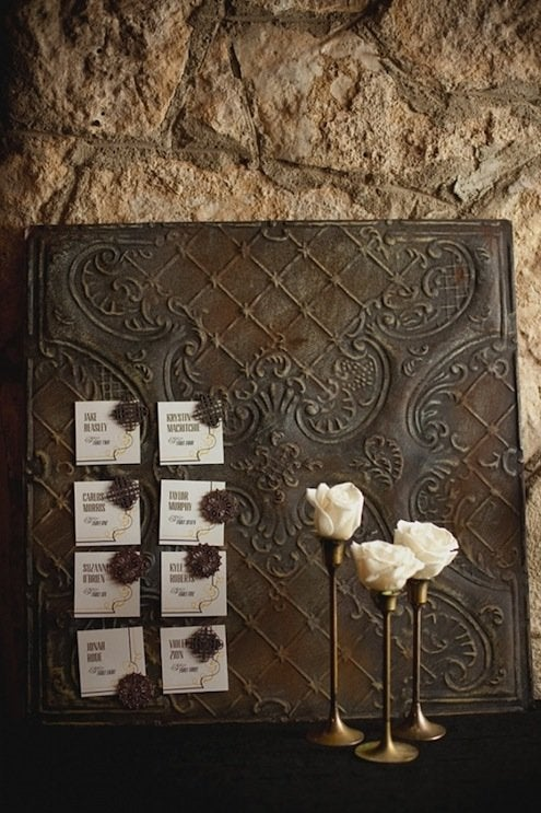 Tin Ceiling Tile DIY - Magnetic Board