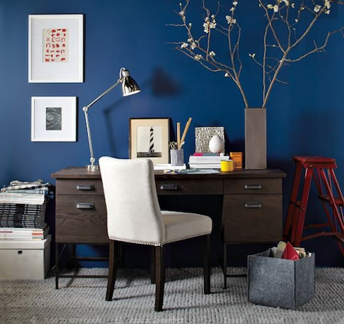 Effects of Color on Mood - Blue Office