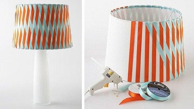 DIY Lampshades - No Sew Ribbon Wrapped