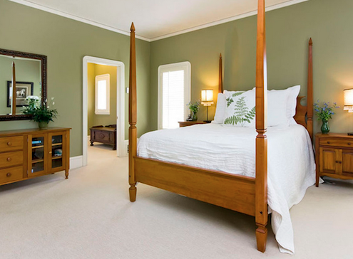 Effects on Color on Mood - Green Bedroom