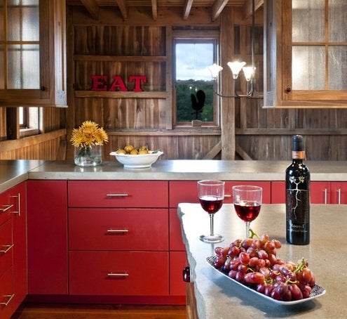 Effects of Color on Mood - Red Kitchen
