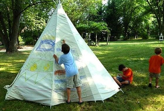 Kids DIY - Teepee