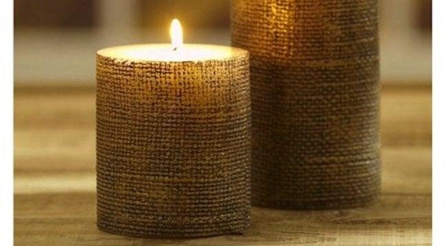 Burlap DIY - candles
