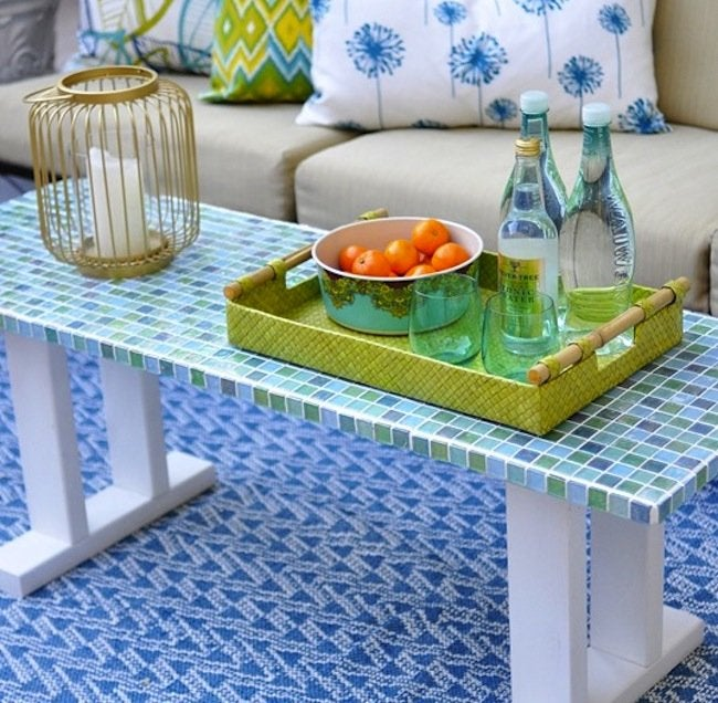 DIY Outdoor Furniture - Tile Table