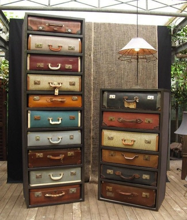 Luggage DIY Projects - Dresser