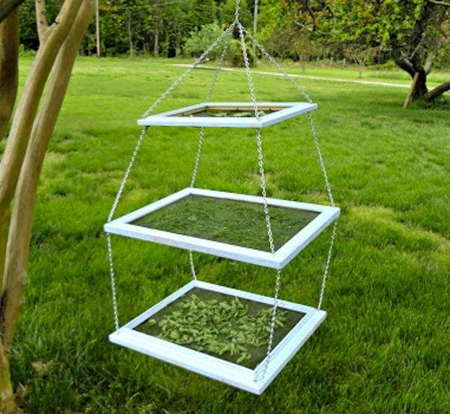 Repurpose Frames - Herb Drying Rack