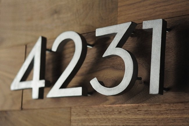 DIY Curb Appeal Projects - House Numbers