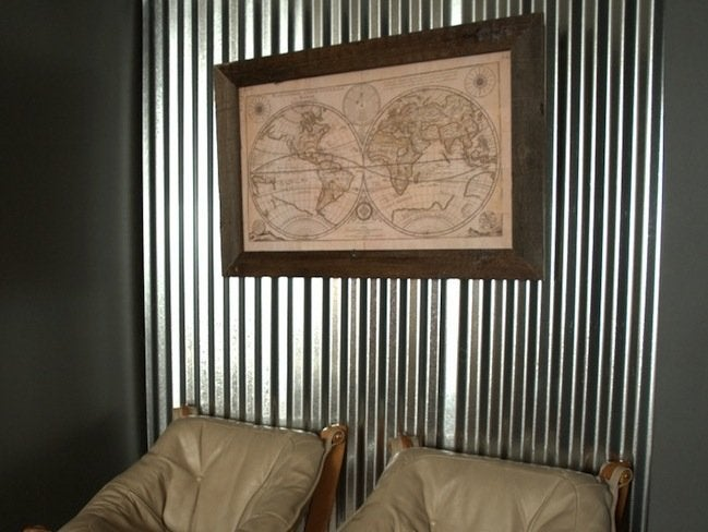 Corrugated Metal Diy Accent Wall