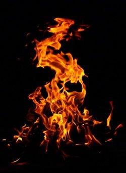 Build a Fire Pit - Flames