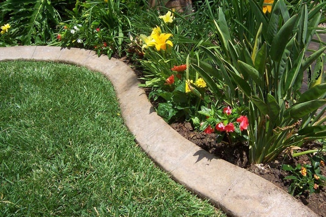 how to make concrete garden edging bob vila