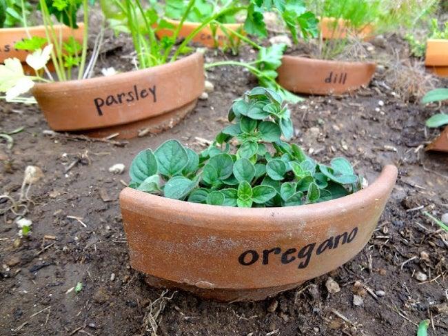 Repurpose Clay Pots - Markers