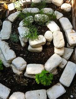 DIY Herb Spiral - Stone Design