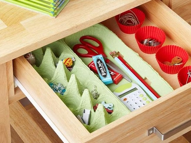 Reuse Egg Cartons - Organizer