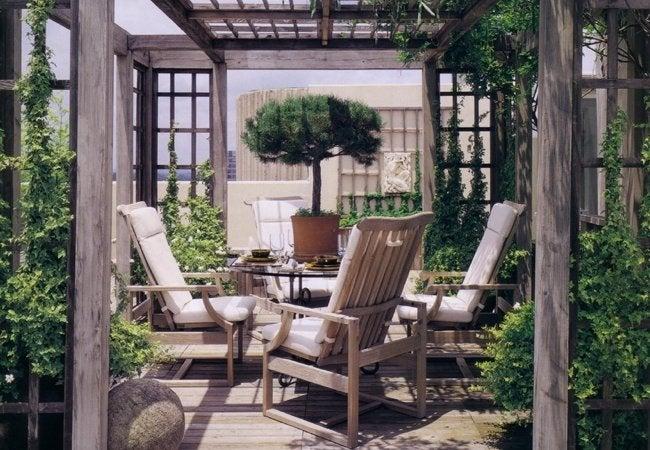 Outdoor Room Design - Trellis Enclosure