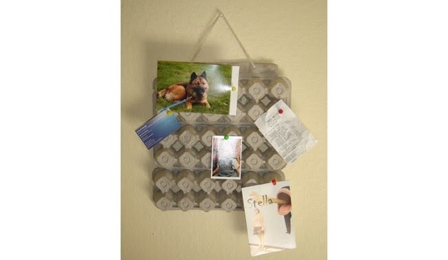 Reuse Egg Cartons - Bulletin Board
