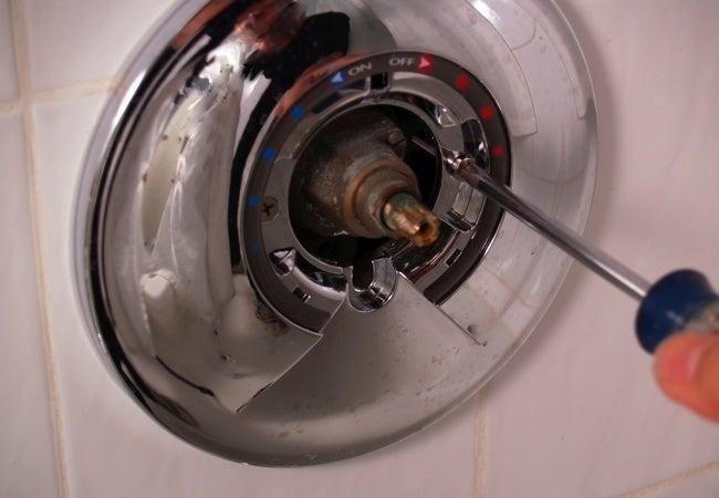 How to Install Shower Valve Trim - Screw Plate