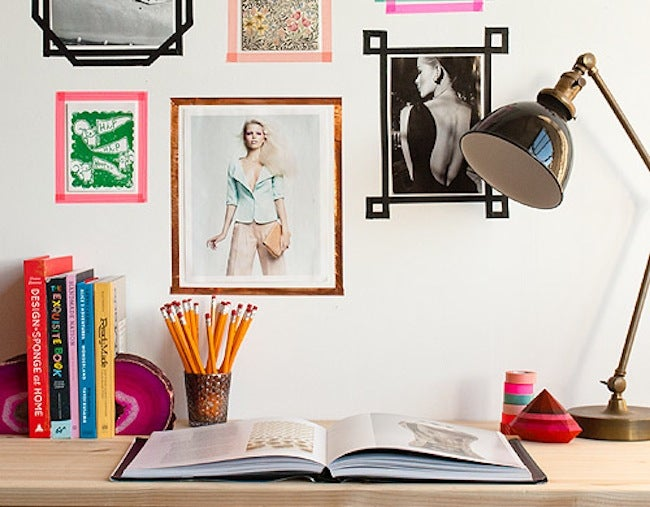 DIY Dorm Room Decor - Washi Tape Frame