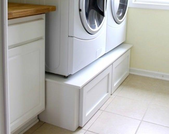 DIY Laundry Room Storage - Riser