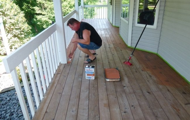 How to Refinish a Deck - Application