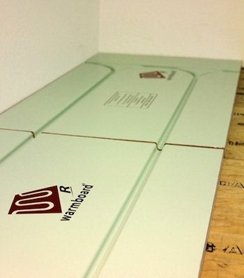 Retrofit Radiant Floor Heating - Warmboard