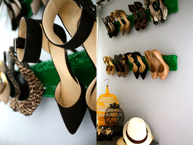 DIY Shoe Rack - Molding Display